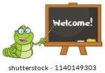book worm teacher cartoon...   Shutterstock .eps vector #1140149303