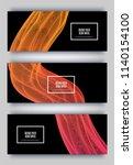 trendy geometric background. 3d ... | Shutterstock .eps vector #1140154100