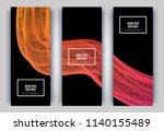trendy geometric background. 3d ... | Shutterstock .eps vector #1140155489