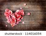 vintage heart from flowers   on ... | Shutterstock . vector #114016054