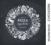 vector round design with hand... | Shutterstock .eps vector #1140165086