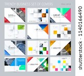 abstract double page brochure... | Shutterstock .eps vector #1140166490