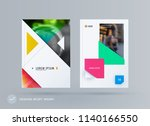 brochure design triangular... | Shutterstock .eps vector #1140166550
