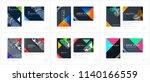 brochure design triangular... | Shutterstock .eps vector #1140166559