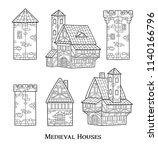 medieval ancient buildings set... | Shutterstock .eps vector #1140166796