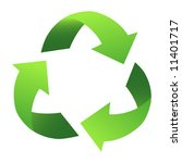 green recycle sign  with... | Shutterstock .eps vector #11401717