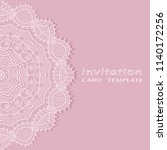 invitation or card template... | Shutterstock .eps vector #1140172256