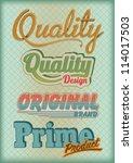 vector set vintage labels | Shutterstock .eps vector #114017503