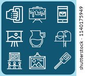 tools related set of 9 icons... | Shutterstock . vector #1140175949
