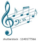 symbol with music notes. | Shutterstock .eps vector #1140177566