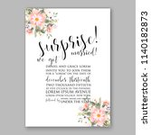 floral wedding invitation... | Shutterstock .eps vector #1140182873