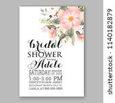 floral wedding invitation... | Shutterstock .eps vector #1140182879