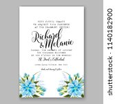 floral wedding invitation... | Shutterstock .eps vector #1140182900