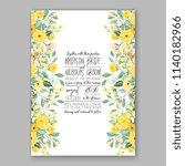 floral wedding invitation... | Shutterstock .eps vector #1140182966