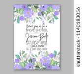 purple floral wedding... | Shutterstock .eps vector #1140183056