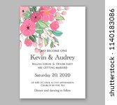 wedding invitation template...   Shutterstock .eps vector #1140183086
