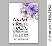 floral wedding invitation... | Shutterstock .eps vector #1140183920