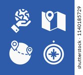 map related set of 4 icons such ... | Shutterstock . vector #1140185729