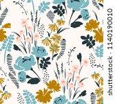 floral seamless pattern. vector ... | Shutterstock .eps vector #1140190010