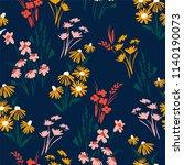 floral seamless pattern. vector ...   Shutterstock .eps vector #1140190073