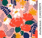 floral seamless pattern. vector ... | Shutterstock .eps vector #1140190079