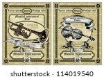 vector set vintage labels  ... | Shutterstock .eps vector #114019540