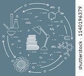 scientific  education elements. ... | Shutterstock .eps vector #1140196379