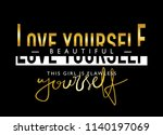 love yourself inspirational... | Shutterstock .eps vector #1140197069