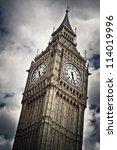 Big Ben Against Cloudy Sky