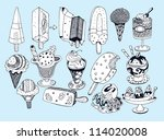 sweet ice cream collection ... | Shutterstock .eps vector #114020008