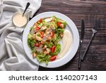 Tasty Caesar Salad With Pasta...