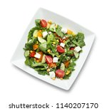 plate with delicious fresh... | Shutterstock . vector #1140207170