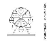 ferris wheel illustration on... | Shutterstock .eps vector #1140214136
