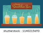 orange raw fruit smoothies... | Shutterstock .eps vector #1140215693