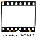 old fashioned 35mm filmstrip or ... | Shutterstock . vector #1140216416