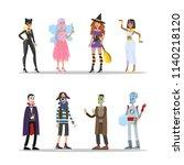 halloween adult costumes set.... | Shutterstock .eps vector #1140218120
