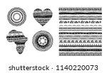 african  tribal  ethnic vector... | Shutterstock .eps vector #1140220073