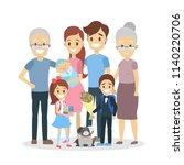 happy big family portrait. mom... | Shutterstock .eps vector #1140220706