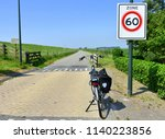 bicycling in the netherlands  | Shutterstock . vector #1140223856