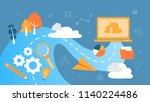 big data concept. modern... | Shutterstock .eps vector #1140224486
