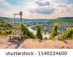 panoramic view over the mosel... | Shutterstock . vector #1140224600