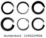 grunge vector circles. brush... | Shutterstock .eps vector #1140224906