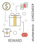 reward concept. purchase and... | Shutterstock .eps vector #1140226019