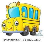school bus thematics image 1  ...   Shutterstock .eps vector #1140226310
