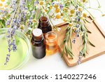 aromatherapy set with different ... | Shutterstock . vector #1140227246