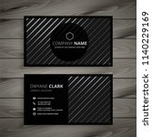 black business card with... | Shutterstock .eps vector #1140229169