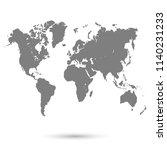 world map vector | Shutterstock .eps vector #1140231233