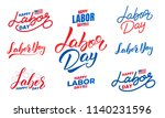 labor day. set of lettering...   Shutterstock .eps vector #1140231596