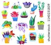 plants in flowerpots vector... | Shutterstock .eps vector #1140231839