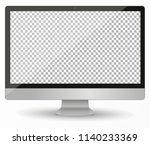 desktop pc vector mocup.... | Shutterstock .eps vector #1140233369